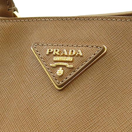 Prada(프라다) BN1844 골드 메탈 로고 사피아노 럭스 토트백