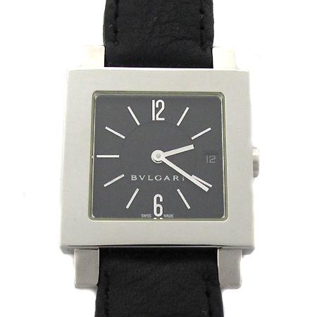 Bvlgari(불가리) SQ27SLD 사각 은장 펜던트 가죽 밴드 공용 시계