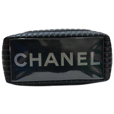 Chanel(샤넬) 마드모아젤 버티칼 블랙 램스킨 은장 체인 숄더백