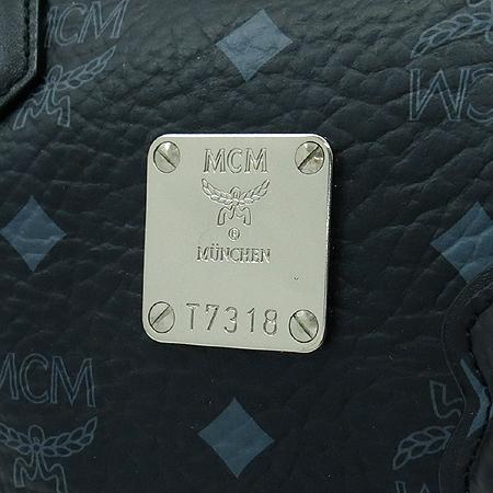 MCM(엠씨엠) 1011099200322 은장 로고 장식 비세토스 보스톤 토트백