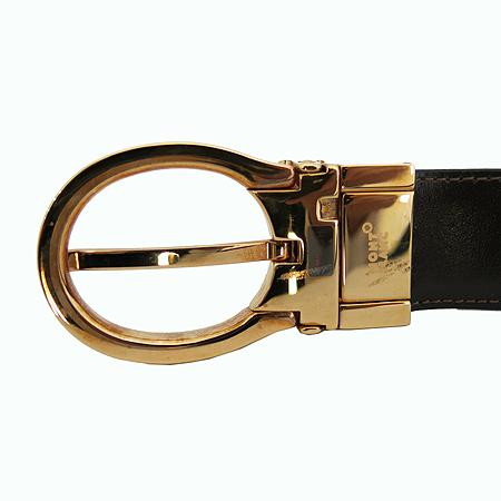 Montblanc(몽블랑) 38157 금장 버클 블랙 레더 남성용 양면 벨트 [일산매장]