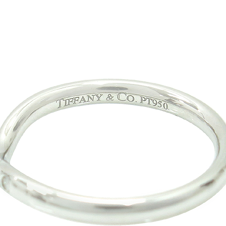 Tiffany(티파니) PT950(플래티늄) ELSA PERETI(엘사퍼레티) 9포인트 다이아 커브 반지 -10.5호