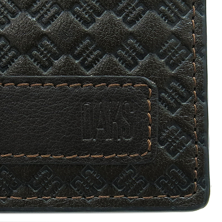 DAKS(닥스) 로고 패턴 브라운 레더 장지갑