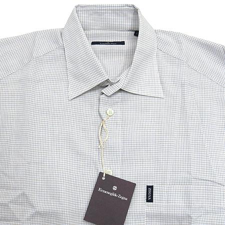 Zegna(제냐) 연그레이컬러 블록스트라이프 셔츠
