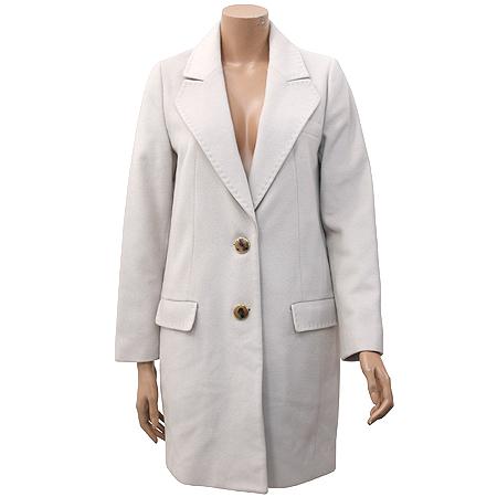 ENC(이엔씨) 아이보리컬러 캐시미어혼방 코트