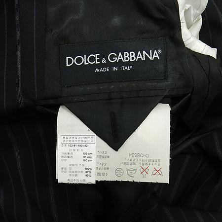 DOLCE & GABBANA(돌체&가바나) 블랙컬러 스트라이프 정장