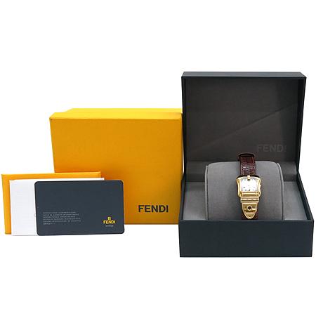 Fendi(펜디) F373242 B-FENDI 3800L 자개판 금장 가죽밴드 여성용시계 [명동매장]