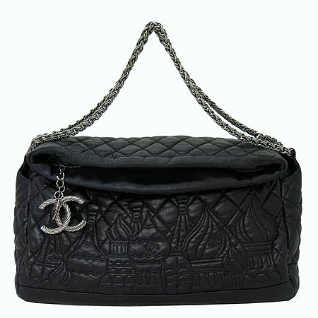Chanel(샤넬) moscow 블랙 램스킨 은장 coco 로고 장식 숄더백[부천 현대점]