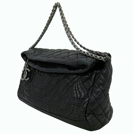 Chanel(샤넬) moscow 블랙 램스킨 은장 coco 로고 장식 숄더백[부천 현대점] 이미지3 - 고이비토 중고명품