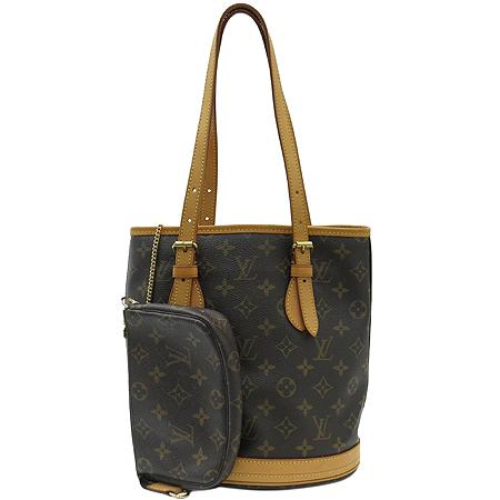 Louis Vuitton(루이비통) M42238 모노그램 캔버스 쁘띠 바겟 숄더백 + 보조 파우치