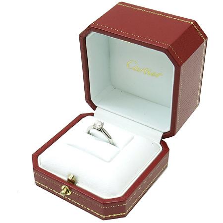 Cartier(까르띠에) N4228847 PT950(플레티늄) 0.5캐럿 G컬러 VS1 다이아 솔리테어 웨딩 반지-7호 [강남본점] 이미지2 - 고이비토 중고명품