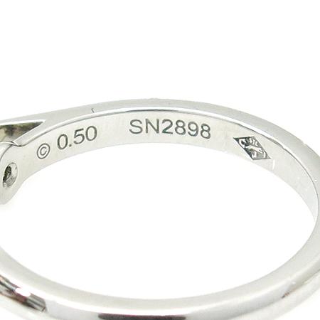 Cartier(까르띠에) N4228847 PT950(플레티늄) 0.5캐럿 G컬러 VS1 다이아 솔리테어 웨딩 반지-7호 [강남본점] 이미지5 - 고이비토 중고명품