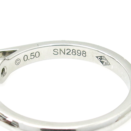 Cartier(까르띠에) N4228847 PT950(플레티늄) 0.5캐럿 G컬러 VS1 다이아 솔리테어 웨딩 반지-7호