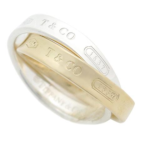 Tiffany(티파니) 1837 실버(925) 18K 콤비 더블링 반지