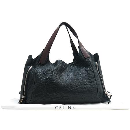 Celine(셀린느) 엠보 블랙 레더 숄더백