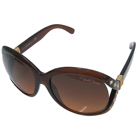 CAVALLI(카발리) 598S 측면 스터드 금장 로고 오버라지 뿔테 선글라스 이미지2 - 고이비토 중고명품