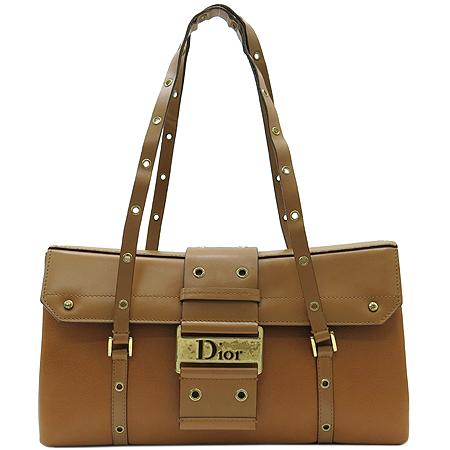 Dior(크리스챤디올) DEE44832M 브라운 레더 금장 로고 토트백 이미지2 - 고이비토 중고명품