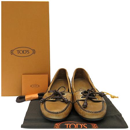 Tod's(토즈) XXW0LU09540D9AS405 TODGY LACCETTO BARCA 브라운레더 드라이빙 여성용 보트슈즈