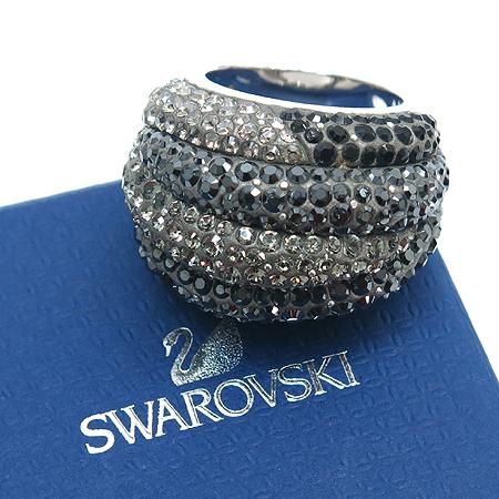 Swarovski(스와로브스키) 블랙&화이트 크리스탈 장식 반지 -17호
