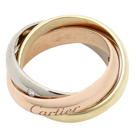 Cartier(까르띠에) B4088500 18K 골드 삼색 트리니티 5포인트 다이아 반지 - 5호