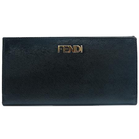 Fendi(펜디) 8M0032 블랙 레더 금장 로고 장지갑