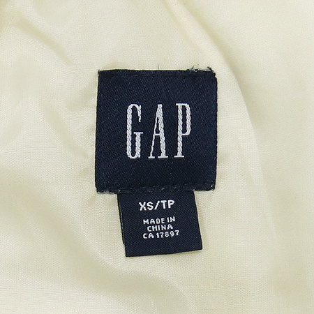 GAP(갭) 아이보리컬러 패딩 점퍼 (충전제:오리깃털75,솜털25)