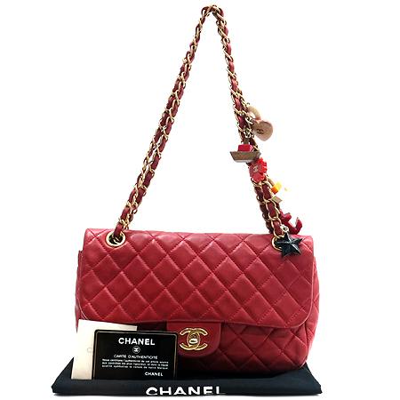 Chanel(샤넬) A49199Y06727 81646 발렌타인 레드 램스킨 퀼팅 백 참 장식 금장로고 체인 숄더백 [인천점]