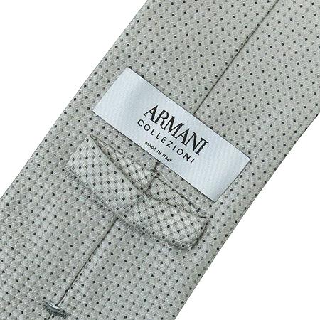 Armani(아르마니 꼴레지오니) 350092 2A401 그레이 실버 도트 100%실크 넥타이