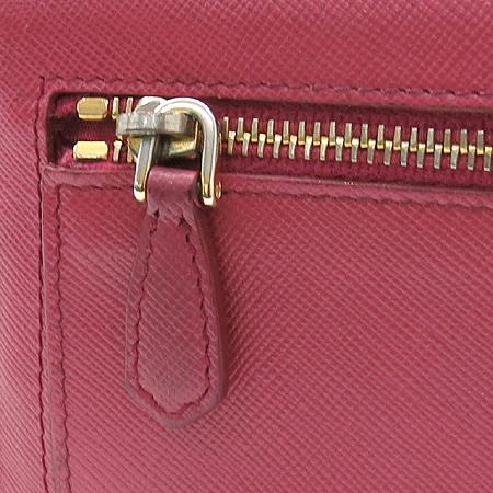 Prada(프라다) 1M1132 금장 로고 장식 사피아노 핑크컬러 장지갑