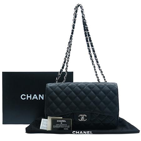 Chanel(샤넬) A58600 Y01295 캐비어스킨 클래식 점보 은장 체인 숄더백 [동대문점]