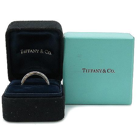 Tiffany(티파니) PT950(플래티늄)+18K 골드 콤비 밀그레인 3MM 반지-9호