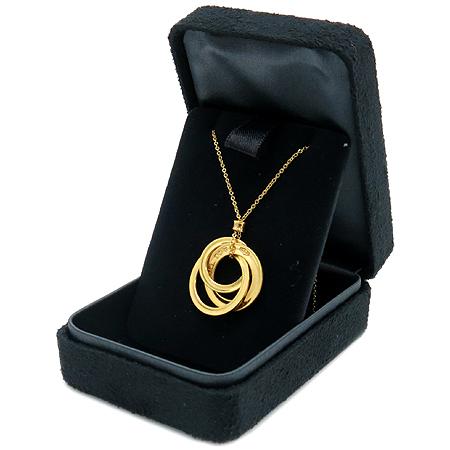 Tiffany(티파니) 18K 골드 1837 인터락킹 3링 목걸이