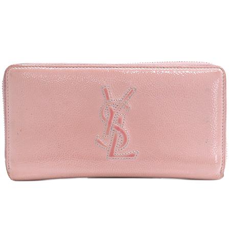 YSL(입생로랑) 177555 핑크 페이던트 로고 스티치 지피월릿 장지갑 이미지2 - 고이비토 중고명품