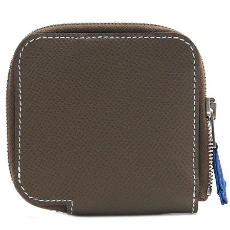 Hermes(에르메스) 베이지 아잡(AZAP) 짚업 동전지갑