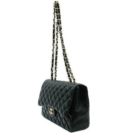 Chanel(샤넬) A58600Y01295 C3906 램스킨 블랙 클래식 점보 L사이즈 금장로고 체인 숄더백