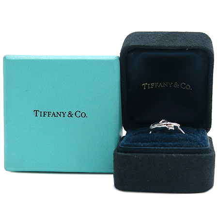 Tiffany(티파니) 18K 화이트 골드 파로마 피카소 러빙하트 10포인트 다이아 반지-12호