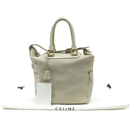 Celine(셀린느) 베이지 컬러 레더 지퍼 포켓 장식 2WAY [대구반월당본점]