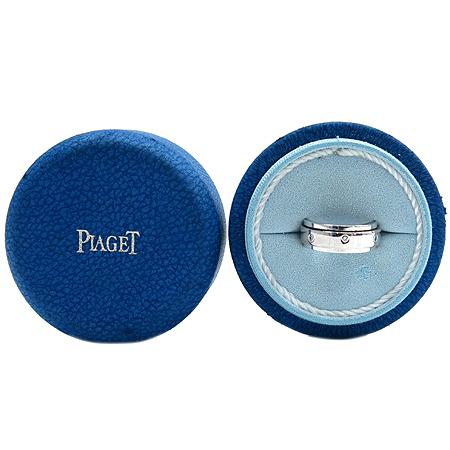 PIAGET(피아제) G34PL24P 18K(750) 화이트 골드 7 포인트 다이아 포제션 와이드 반지-13호
