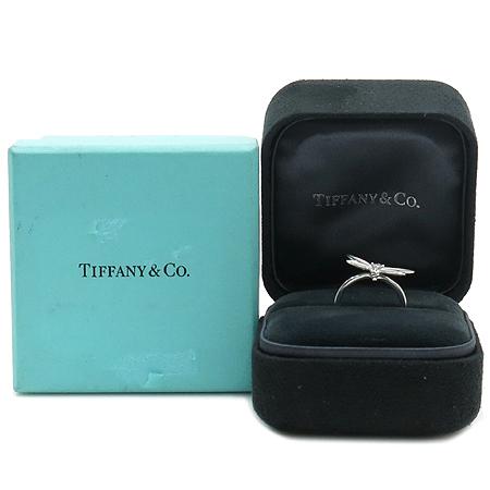 Tiffany(티파니) 18K(750) 화이트 골드 1포인트 다이아  잠자리 문양 반지 -10호