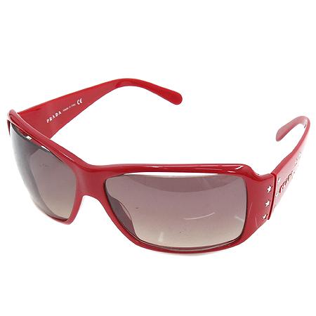 Prada(프라다) SPR19G 측면 은장 스타 장식 레드 뿔테 선글라스 이미지2 - 고이비토 중고명품