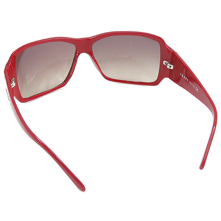 Prada(프라다) SPR19G 측면 은장 스타 장식 레드 뿔테 선글라스