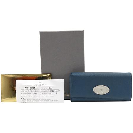 MULBERRY(멀버리) RL8541 금장 로고 레더 장지갑