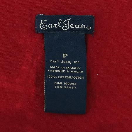 Earl Jean(얼진) 레드컬러 V넥 반팔 티 이미지4 - 고이비토 중고명품