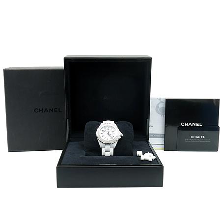 Chanel(샤넬) H0969 J12 38MM 베젤 다이아 오토매틱 화이트 세라믹 오토매틱 시계