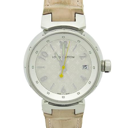 Louis Vuitton(루이비통) Q13130 땅부르 엘리게이터 스트랩 쿼츠 여성용 시계
