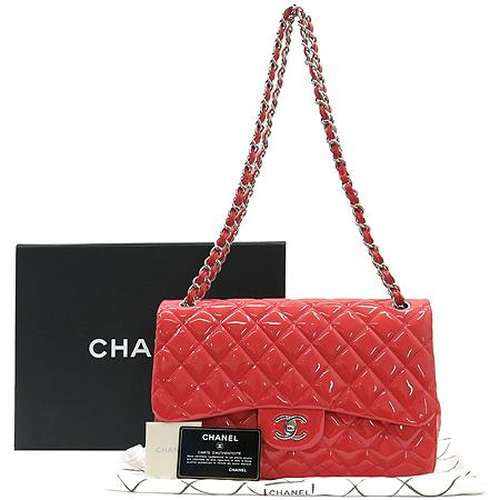 Chanel(샤넬) 페이던트 클래식 점보 사이즈 은장 체인 숄더백