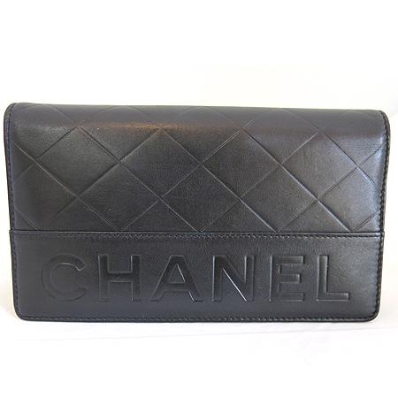 Chanel(샤넬) 이니셜 로고 블랙 레더 장지갑 이미지2 - 고이비토 중고명품