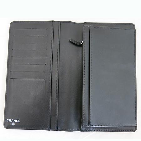 Chanel(샤넬) 이니셜 로고 블랙 레더 장지갑 이미지3 - 고이비토 중고명품