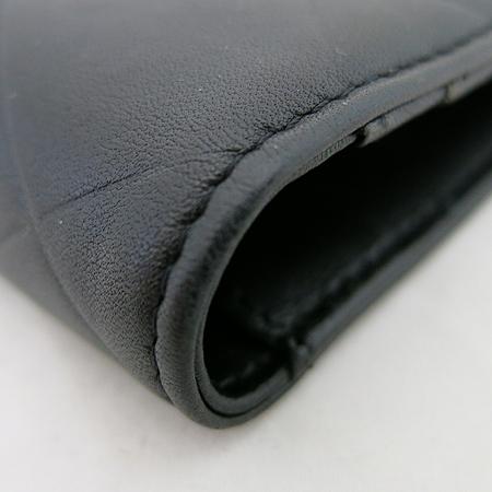 Chanel(샤넬) 이니셜 로고 블랙 레더 장지갑 이미지4 - 고이비토 중고명품