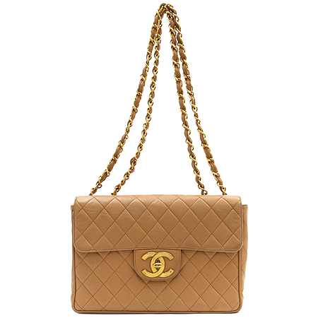 Chanel(샤넬) 은장 COCO 로고 장식 구형 점보 금장 체인 숄더백